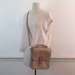 Tannery West Square Tan leather cross body bag